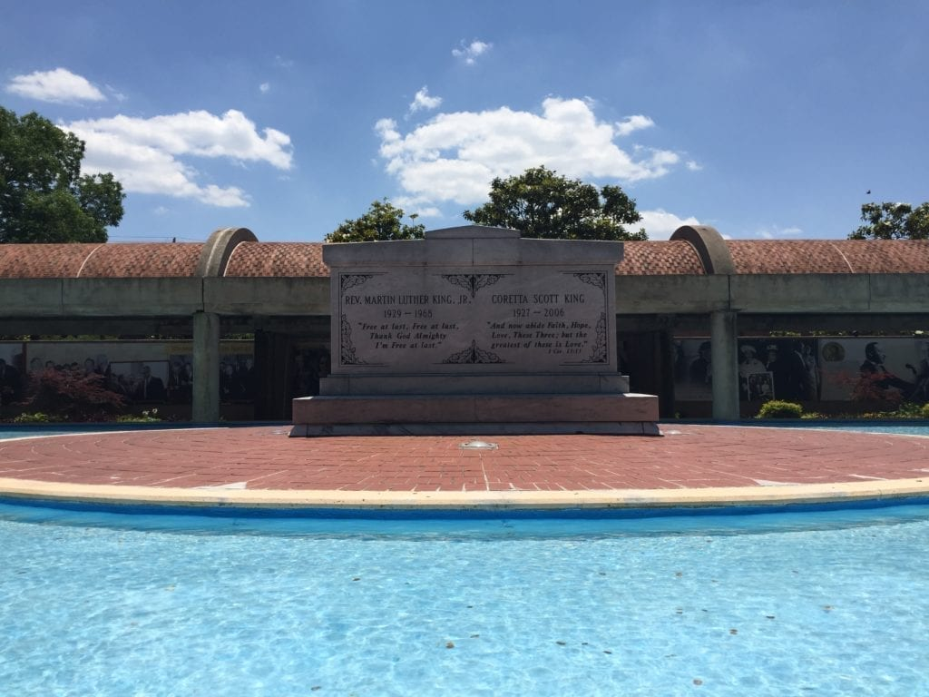 Dr. Martin Luther King and Coretta Scott King tomb
