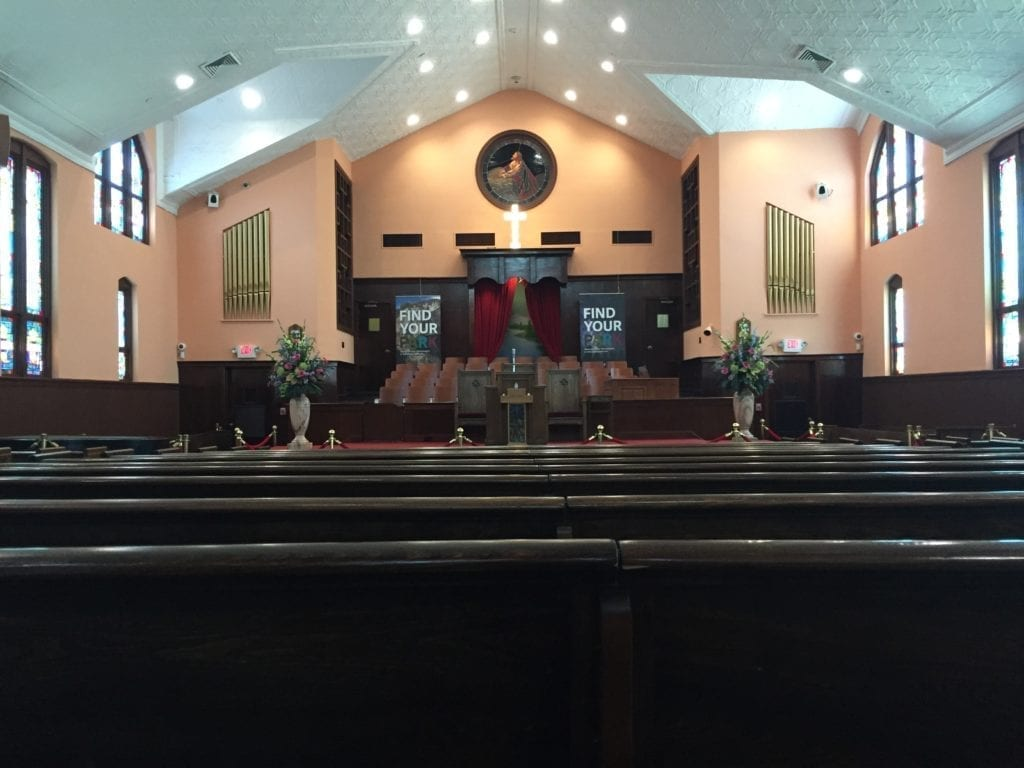 Ebenezer Baptist Church where the King used to preach