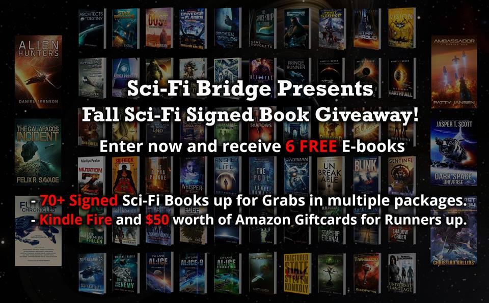 Sci-Fi Bridge Signed Book Giveaway