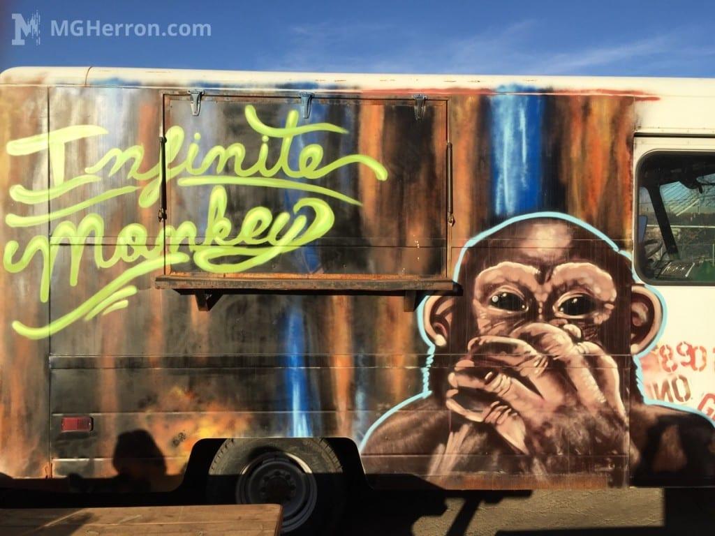 Infinite Monkey Theorem graffiti art