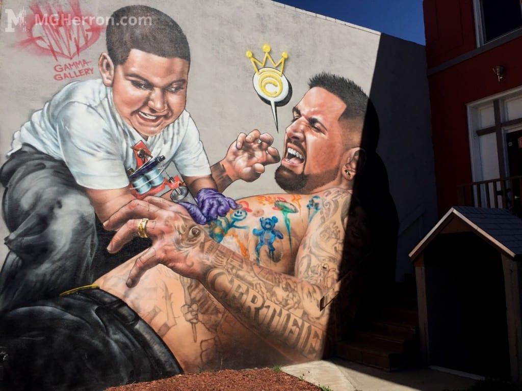 Graffiti art on Broadway